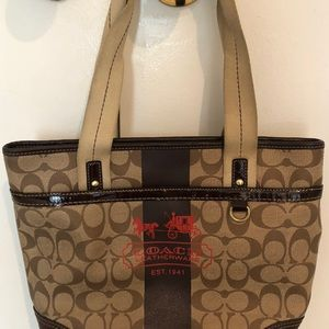Coach Medium Brown Leather Tote Bag